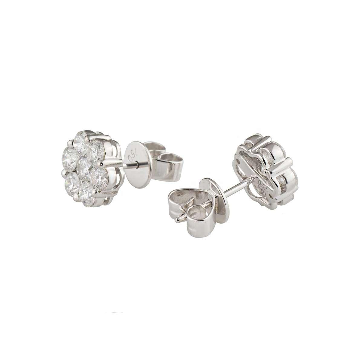Flower Diamond Earrings 1.40ct